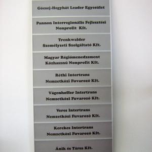 Sínrendszeres tábla 1